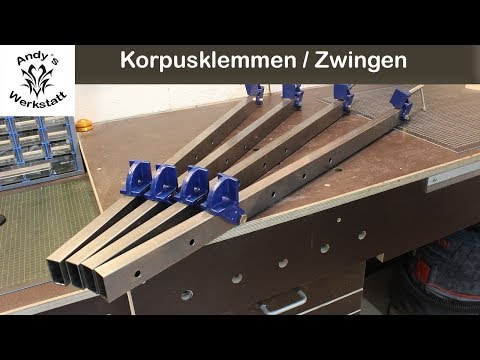 Korpuszwinge/Schraubstockzwinge/Corpus clamp/Bar clamp selber machen - diy