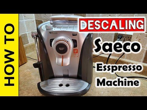 Descaling Saeco Odea Go Espresso machine.