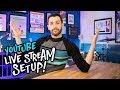 YouTube Live Stream Studio Setup! (LIVESTREAM #10) 🔴