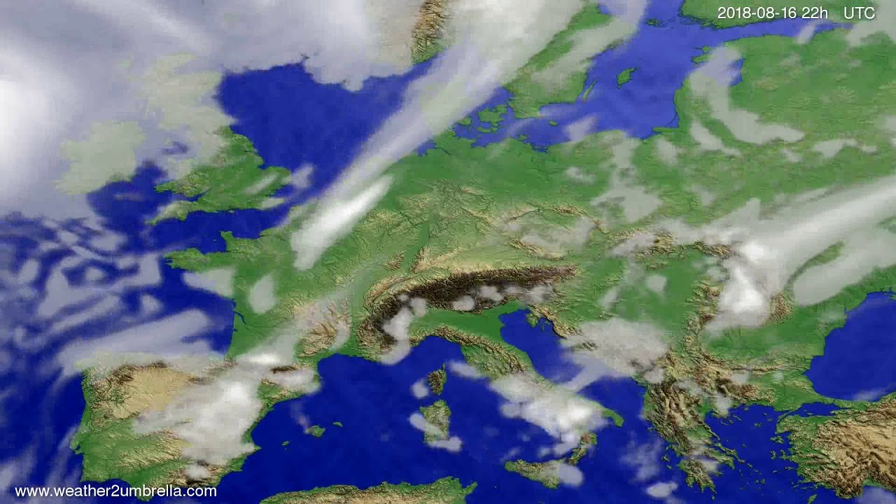 Cloud forecast Europe 2018-08-14