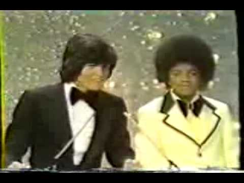 Michael Jackson and Donny Osmond at the inaugural American Music Awards