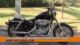 8. Used 2007 Harley Davidson Sportster Iron 883 Motorcycles for sale