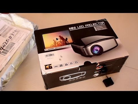 Best Cheapest Projector Cheerlux C6 LCD LED Projector Unboxing Review And Test HD