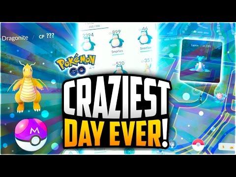 Pokemon Go - The CRAZIEST POKEMON GO SPAWNS EVER! (MY FIRST LAPRAS + SNORLAX APOCALYPSE)