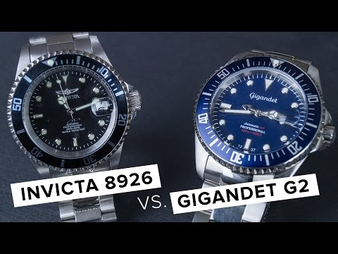 Invicta 8926 VS Gigandet Sea Ground G2 // Rolex Submariner Alternative? // Deutsch // FULLHD