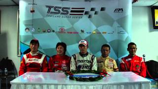 Thailand Super Pickup 2013 Race 5 Post Race Interview At bira 5/10/2013