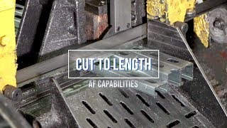 Cut To Length | Allfasteners Capabilities