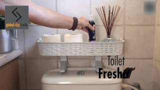 Easy Fit Toilet-Top Bathroom Shelf | No-drill Bathroom Storage Sollution