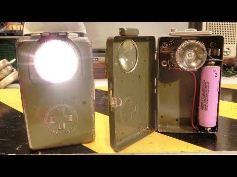 1940s? Swiss Army Surplus Flashlight: Lithium-ion 18650 Upgrade