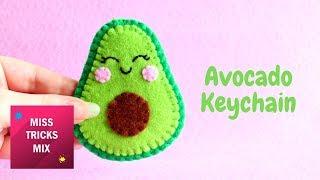 Kawaii Avocado Felt Keychain DIY Tutorial
