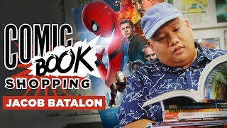 In a new episode of Comic Book Shopping, we're joined by Spider-Man: Homecoming co-star Jacob Batalon to talk about hanging with Donald Glover, working with Tom Holland, wanting to become Hobgoblin, and much more. Do you like comics and celebrities who also happen to like comics? You're in luck! We at Collider have a variety of original shows ranging from panel-style Movie Talk to the more utility-based Best Movies on Netflix, and now we're happy to introduce a brand new show for our channel: Comic Book Shopping. Each episode will find a different celebrity or personality going to a local comics shop with host Jon Schnepp and sifting through and discussing their favorite comics, as well as their own upcoming projects.  In this week's episode Batalon, who's unforgettable as Peter Parker's BFF Ned Leeds in the Sony Pictures/Marvel Studios film, teams up with Schnepp and goes to Meltdown Comics in Los Angeles, where the two peruse the aisles talk about Batalon's experience making Homecoming, hanging out with folks like Tom Holland, Martin Starr, and Donald Glover, and if he wants to see Ned follow his comics arc and become the Hobgoblin.   Batalon also opens up about his love of Star Wars comics as a kid (and nerds out over some Star Wars comics in the store) while Schnepp offers some great suggestions to expand the horizons of those who may be a bit newer to the comics realm. And Batalon even teases his role in Terry Gilliam's long-awaited The Man Who Killed Don Quixote. Check out the fourth episode of Comic Book Shopping in the video above, and if you missed our previous episodes check out our chats with Preacher executive producer Evan Goldberg, Linkin Park, and Silicon Valley's Martin Starr: http://bit.ly/2spC8Nn.Follow us on Twitter: https://twitter.com/ColliderVideoFollow us on Instagram: https://instagram.com/ColliderVideoFollow us on Facebook: https://facebook.com/colliderdotcomAs the online source for movies, television, breaking news, incisive content, and imminent trends, COLLIDER is a more than essential destination: http://collider.comFollow Collider.com on Twitter: https://twitter.com/ColliderSubscribe to the SCHMOES KNOW channel: https://youtube.com/schmoesknowCollider Show Schedule:- MOVIE TALK: Weekdays  http://bit.ly/29BRtOO- HEROES: Weekdays  http://bit.ly/29F4Job- MOVIE TRIVIA SCHMOEDOWN: Tuesdays & Fridays  http://bit.ly/29C2iRV - TV TALK: Mondays  http://bit.ly/29BR7Yi - COMIC BOOK SHOPPING: Wednesdays  http://bit.ly/2spC8Nn- JEDI COUNCIL: Thursdays  http://bit.ly/29v5wVi - COLLIDER NEWS WITH KEN NAPZOK: Weekdays  http://bit.ly/2t9dNIE- BEST MOVIES ON NETFLIX RIGHT NOW: Fridays  http://bit.ly/2txP3gn- BEHIND THE SCENES & BLOOPERS: Saturdays  http://bit.ly/2kuLuyI- MAILBAG: Weekends  http://bit.ly/29UsKsd