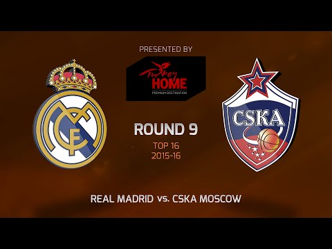 Highlights: Top 16, Round 9, Real Madrid 87-96 CSKA Moscow