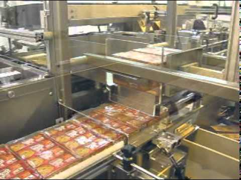 CHL Overwrapped Trays of Cookies Side Load Case Packer