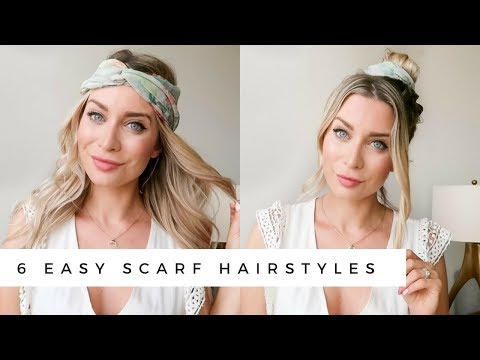 Easy hairstyles - EASY SUMMER HAIRSTYLES USING A SCARF  Joëlle Anello