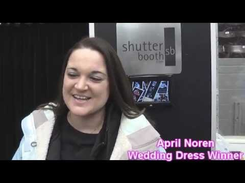 Southwest Michigan Bridal Show wedding dress winner April Noren discusses her raffle victory on Sunday January 13th, 2013.