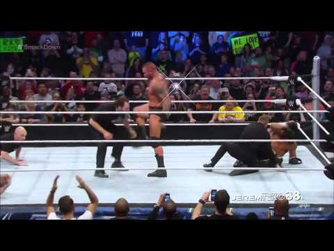 Video Randy Orton RKO on Member of Security - Smackdown - March 19, 2015 download in MP3, 3GP, MP4, WEBM, AVI, FLV January 2017