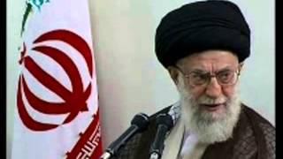 While Hasan Rohani talk against Ahmadinejad in Majlis , Khamenei  praise his services in Eftar part