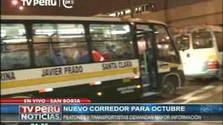 Corredor Javier prado: Peatones y transportistas demandan mayor información