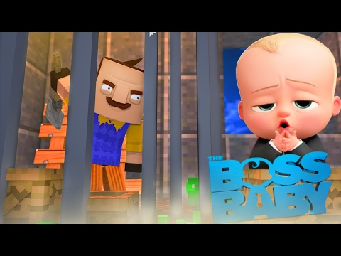 Minecraft Baby Hello Neighbor - THE BOSS BABY HAS TRAPPED THE NEIGHBOR - Little Club Baby Max (видео)