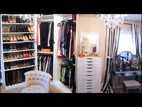 updated - Everything Mentioned (CLICK SHOW MORE BELOW) mirrored vanity & armoire: http://goo.gl/rQHQX3 necklace dome cloche http://goo.gl/2sMy6V Ikea Pax closet syst...