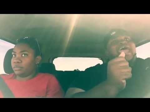 Brother Annoys Sister By Lip Syncing To Music On Long Road