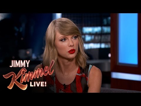 """taylor - Taylor explains some of the lyrics from her new album and reveals the role Jack Antonoff of the band """"Fun."""" played in her songwriting process. SUBSCRIBE to get the latest #KIMMEL: http://bit.l..."""