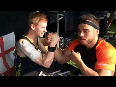 OCR Arm Wrestles - James Ruckley v Ross Edgley (видео)
