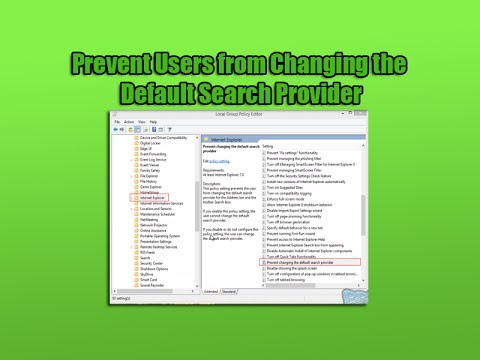 Prevent Users from Changing the Default Search Provider