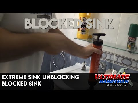 how to unclog a sink full of vomit