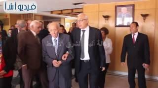 """بالفيديو: رئيس وكالة أنباء الشرق الأوسط يطلق اسم """"محمد عبد الجواد"""" على القاعة الكبرى بالوكالة"""