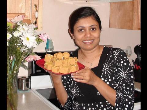 Magas or Besan Ladu or Besan Burfi Video Recipe by Bhavna