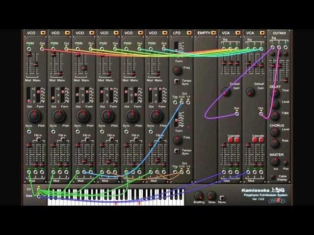 Full-Modular Synthesizer 'Kamioooka' Demo