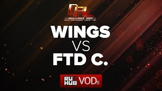 Wings vs FTD.C, DPL Season 2 - Div. A, game 1 [Adekvat, Inmate]