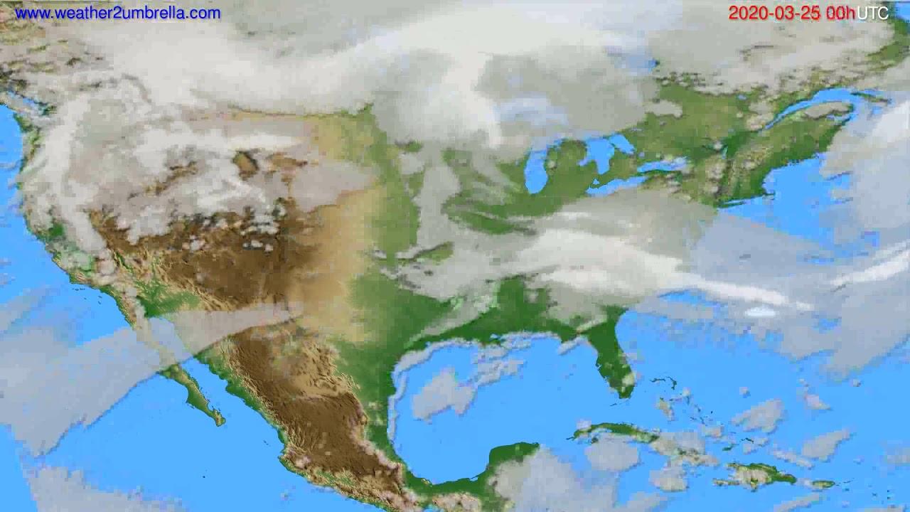 Cloud forecast USA & Canada // modelrun: 00h UTC 2020-03-24