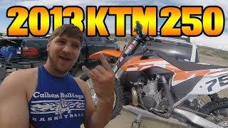 8. DeeO Rides A 2013 KTM 250 (with 2016 plastics) Two Stroke!