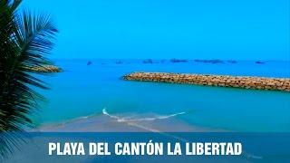 Santa Elena Ecuador  city photos gallery : Playa del cantón La Libertad de la provincia de Santa Elena - Ecuador desde arriba