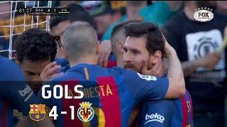 Gols - Barcelona 4 x 1 Villareal - 36ª Rodada La Liga 2016-2017 - 06/05/2017Narração: Silva Jr., Comentários: Eugênio LealEstádio: Camp Nou