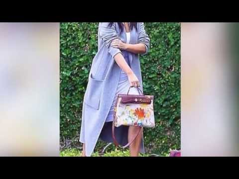 Kim Kardashian Shows Off Hermes Bag Painted by North West