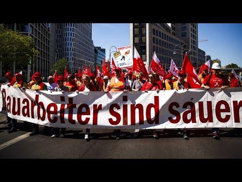 Bau-Tarifrunde: Proteste & Demos vor Schlichtungsbe ...