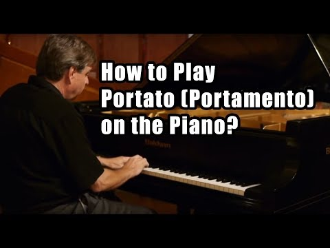 How to play portato on the piano