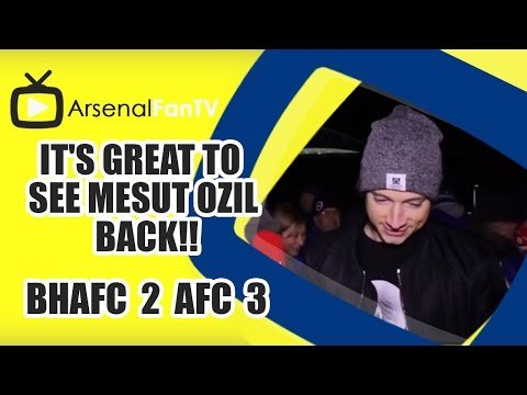 see - It's Great To See Mesut Ozil Back!! - Brighton 2 Arsenal 3 AFTV ONLINE SHOP : http://goo.gl/rin8oW AFTV APP: IPHONE : http://goo.gl/1TNrv0 AFTV APP: ANDROID: http://goo.gl/uV0jFB AFTV ...