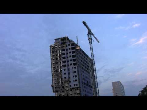 Charlotte NC Highrise Apartment Construction HD Video