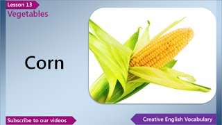 Vegetables, English Vocabulary Lesson 13