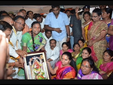 MP Kavitha Visits Kondagattu Anjaneya Swamy Temple
