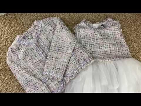 Детский модный комплект костюм для девочки видео