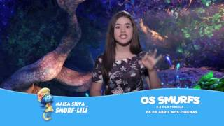 """Maisa convida para assistir ao filme """"Os Smurfs e a Vila Perdida"""" nos cinemas"""