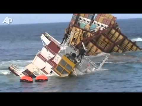 Грузовое судно тонет у берегов Новой Зеландии