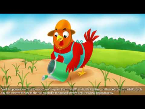 Kids Story The Little Red Hen Stories And Fairy Tales For Children Bedtime Stories (HD)