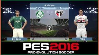 GAMEPLAY DE PES 2016 SOMENTE PARA MOSTRAR A JOGABILIDADE ,FACES E UNIFORMES. Curti games de esporte?