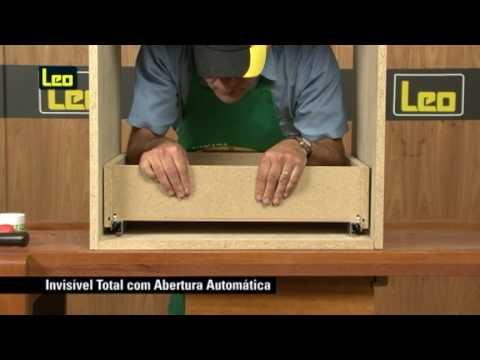 Corrediça Invisível Abertura Automática - 30kg